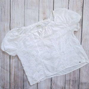 Abercrombie and Fitch white peasant top Small
